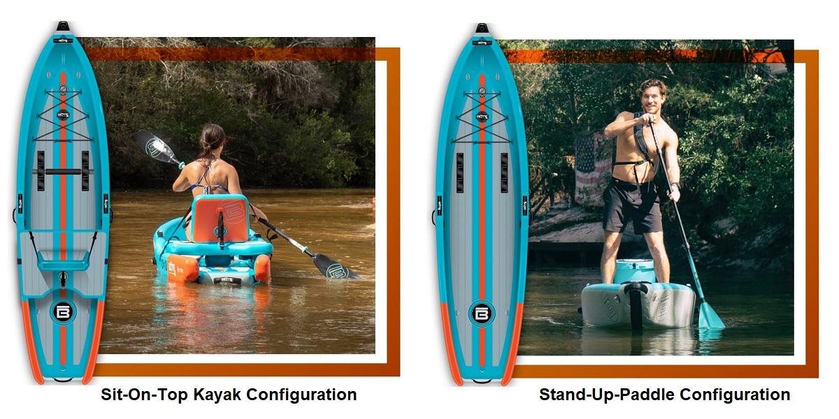 BOTE Deus Aero Inflatable Kayak - Configurations