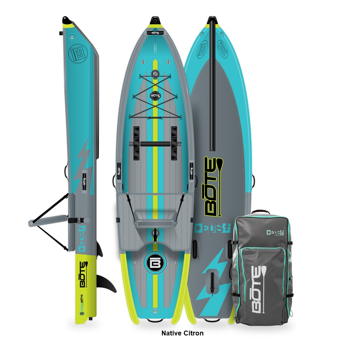 BOTE Deus Aero Inflatable Kayak - Native Citron