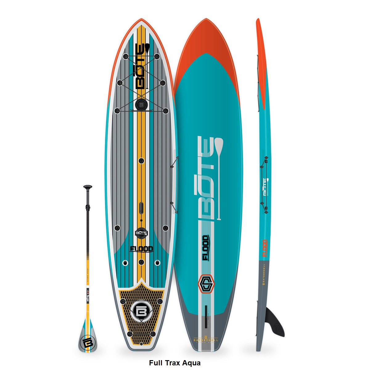 BOTE Flood 12' Paddle Board - Full Trax Aqua