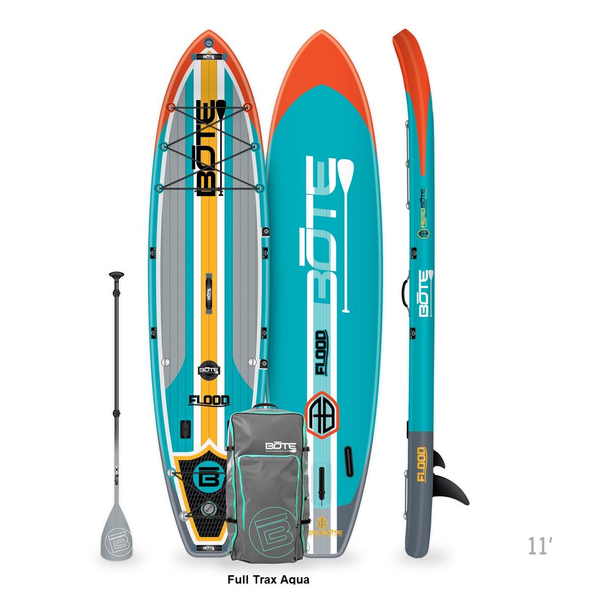 BOTE Flood Aero Paddle Board - Full Trax Aqua