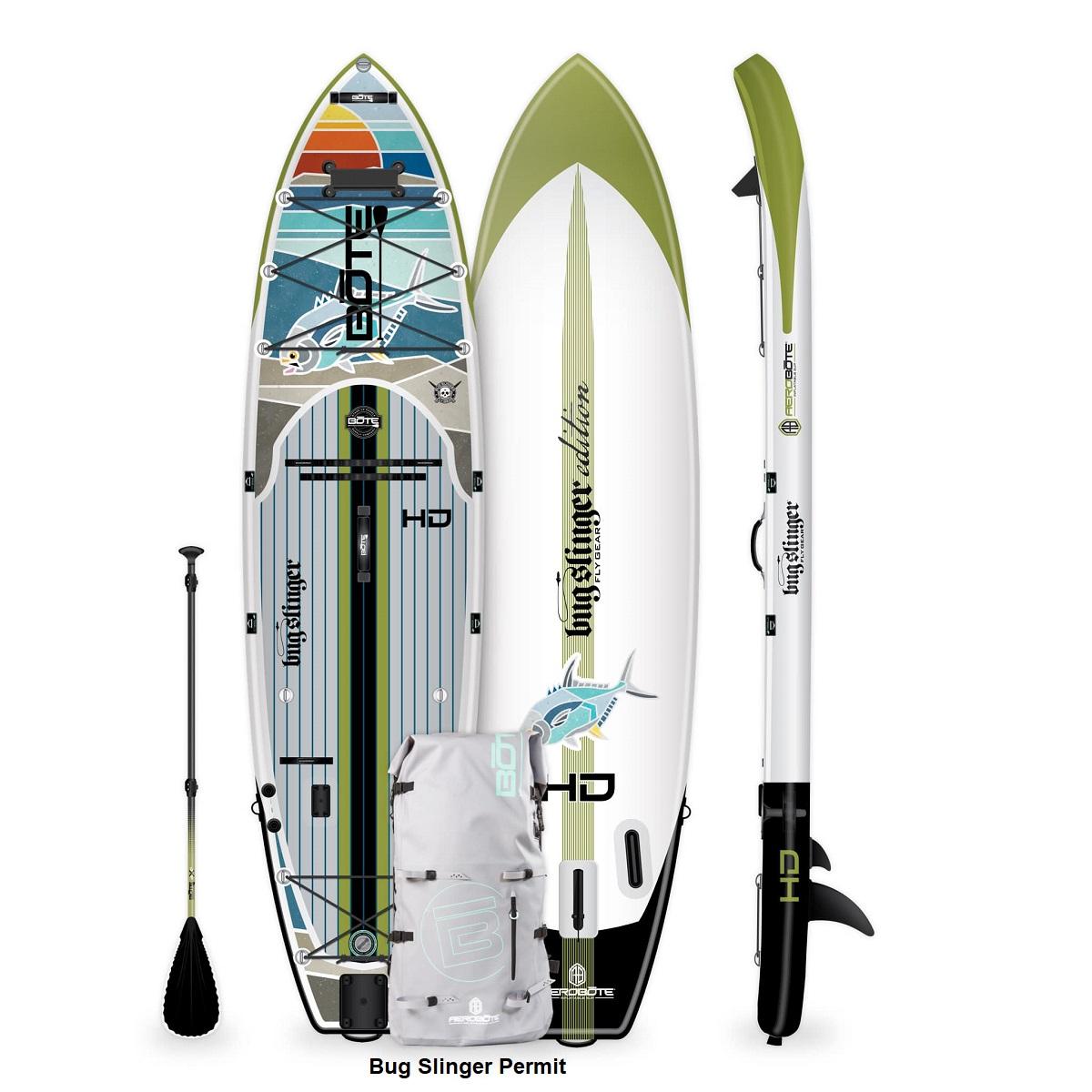 BOTE HD Aero Paddle Board - Bug Slinger Permit