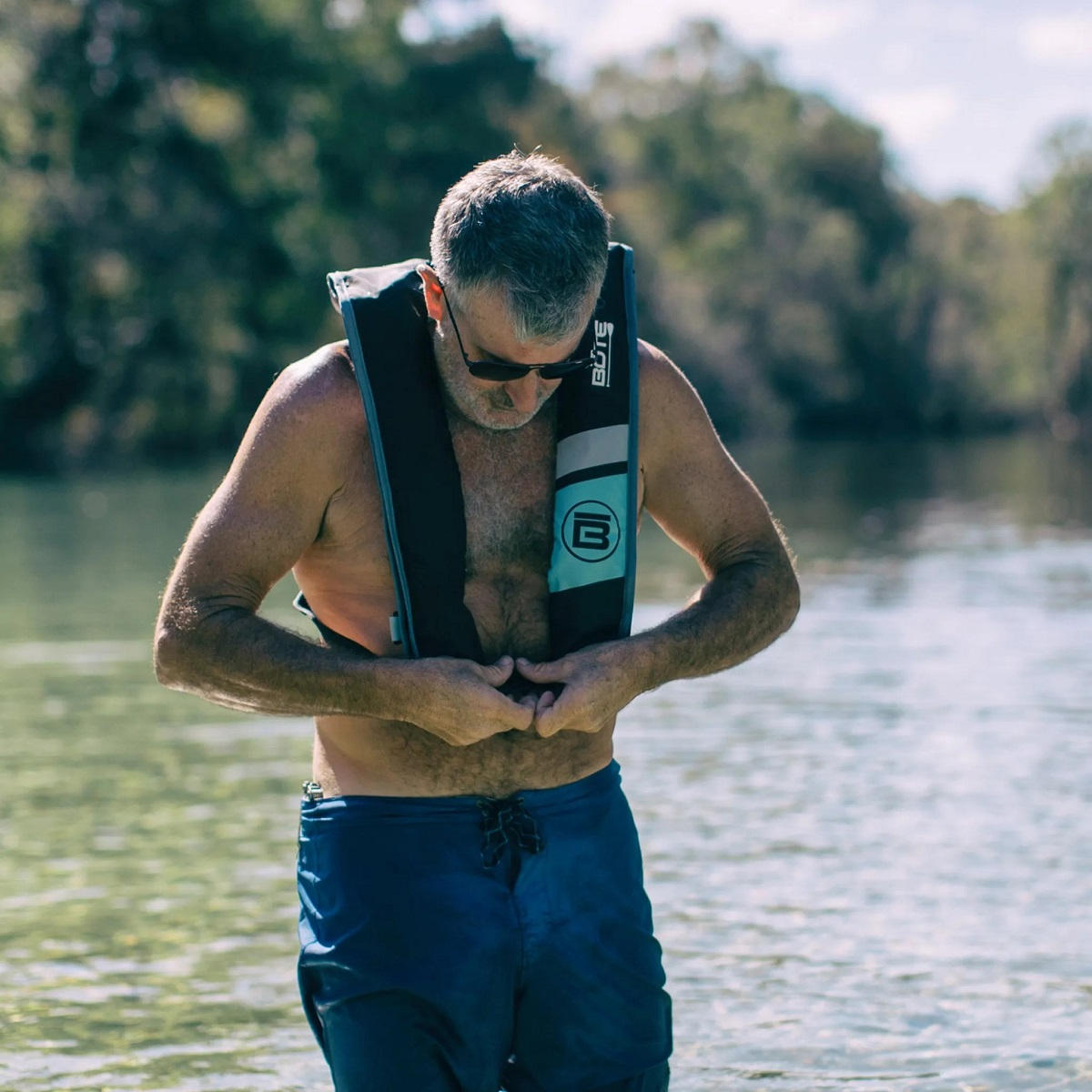 BOTE Inflatable Vest PFD - In Use Deflated