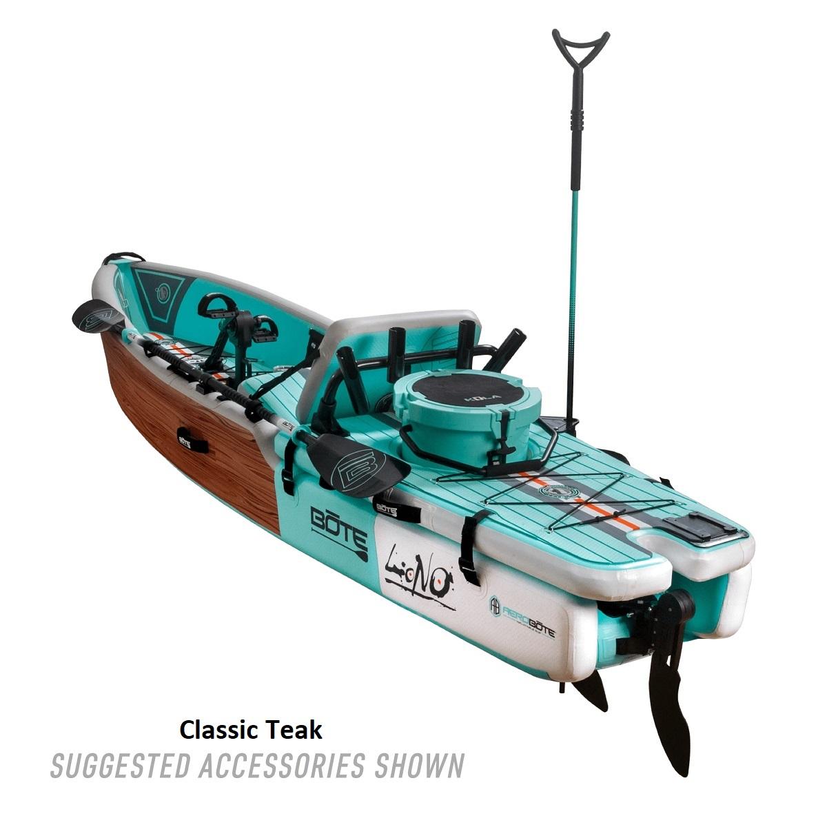 BOTE Lono Inflatable Kayak - Classic Teak 2