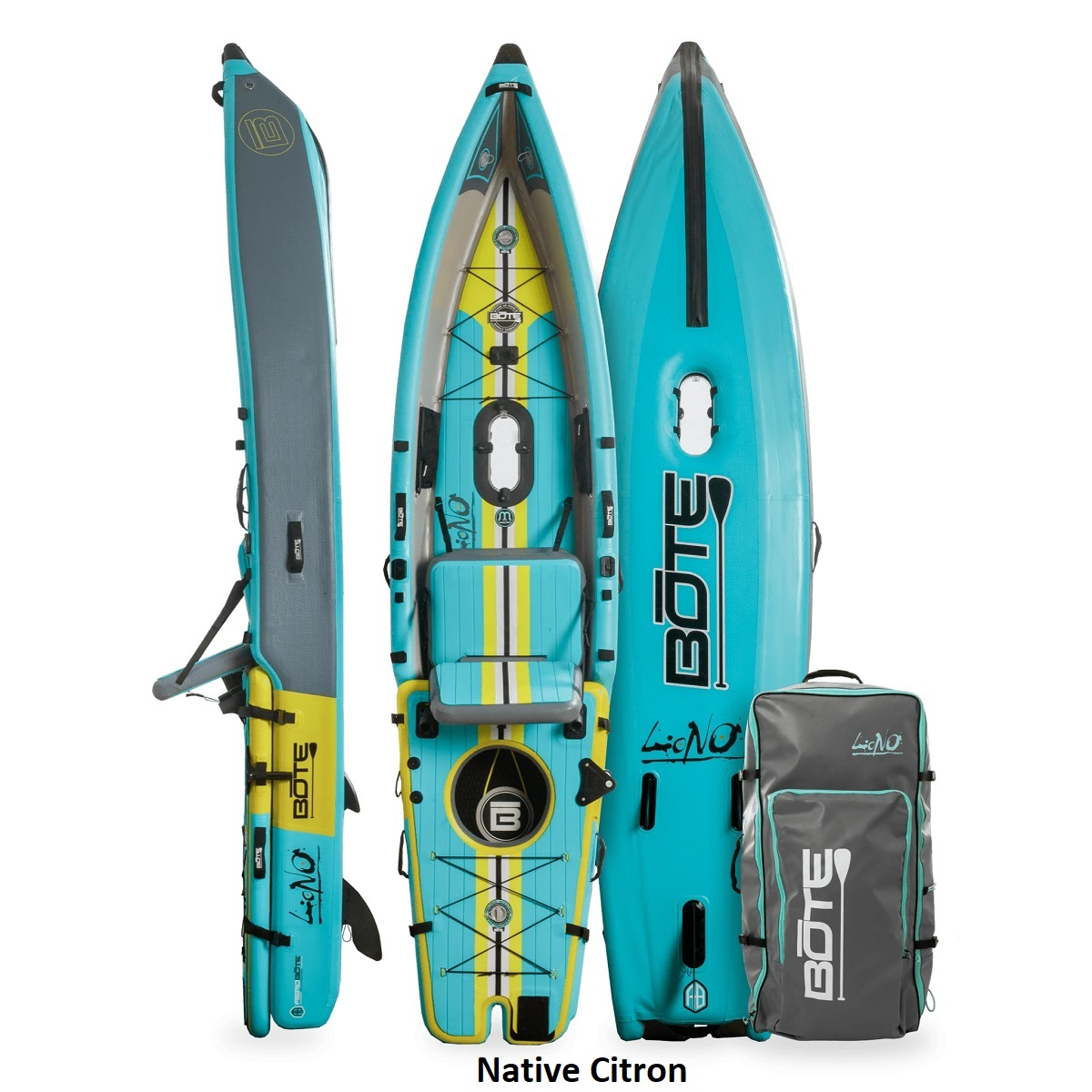 BOTE Lono Inflatable Kayak - Native Citron 1