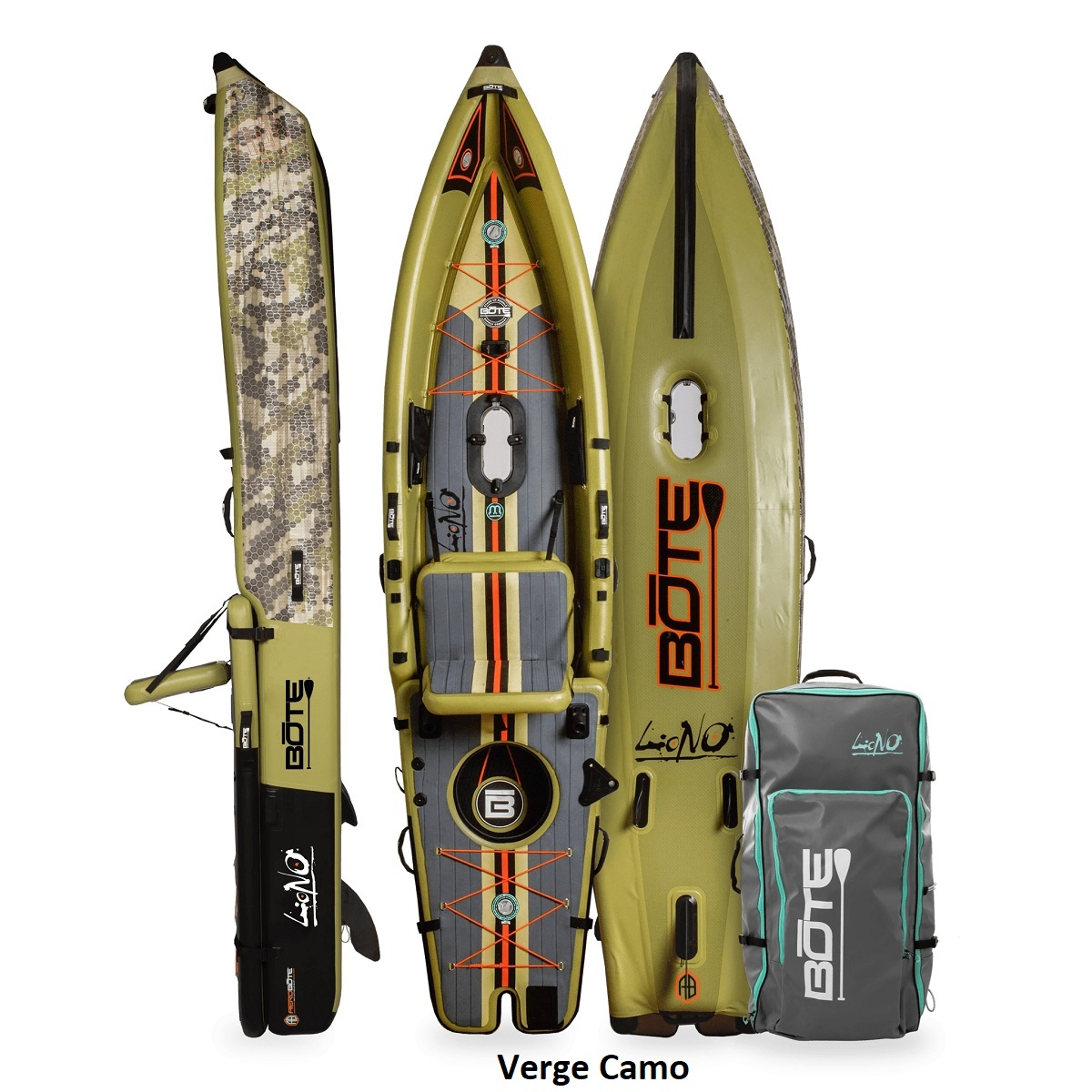 BOTE Lono Inflatable Kayak - Verge Camo 1