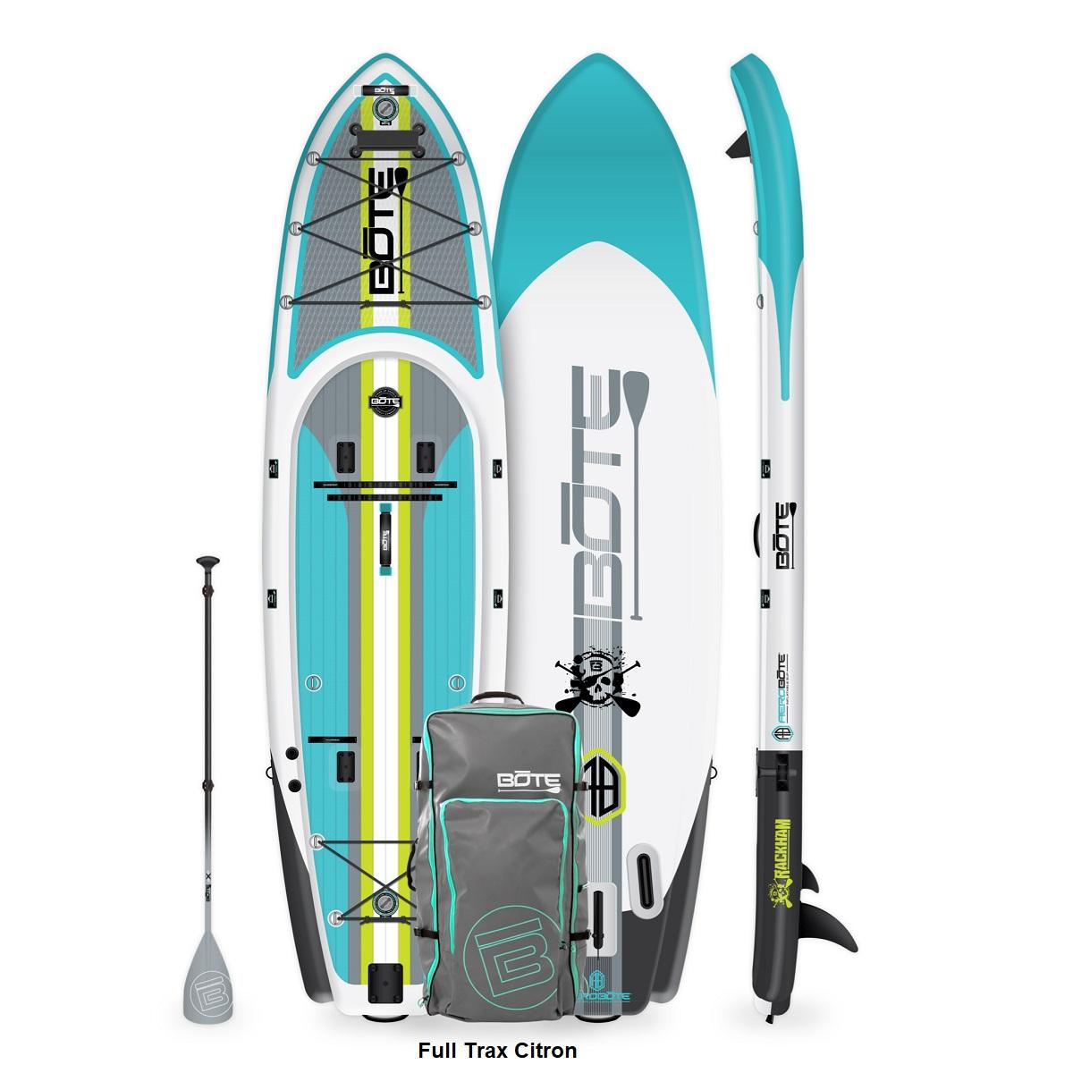 BOTE Rackham Aero Inflatable Paddle Board- Full Trax Citron