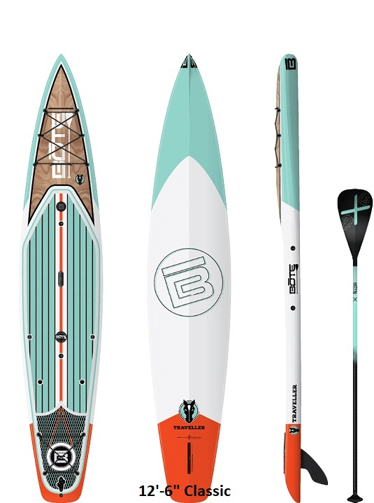 """Bote Traveller Paddleboard - 12'-6"""" Classic"""