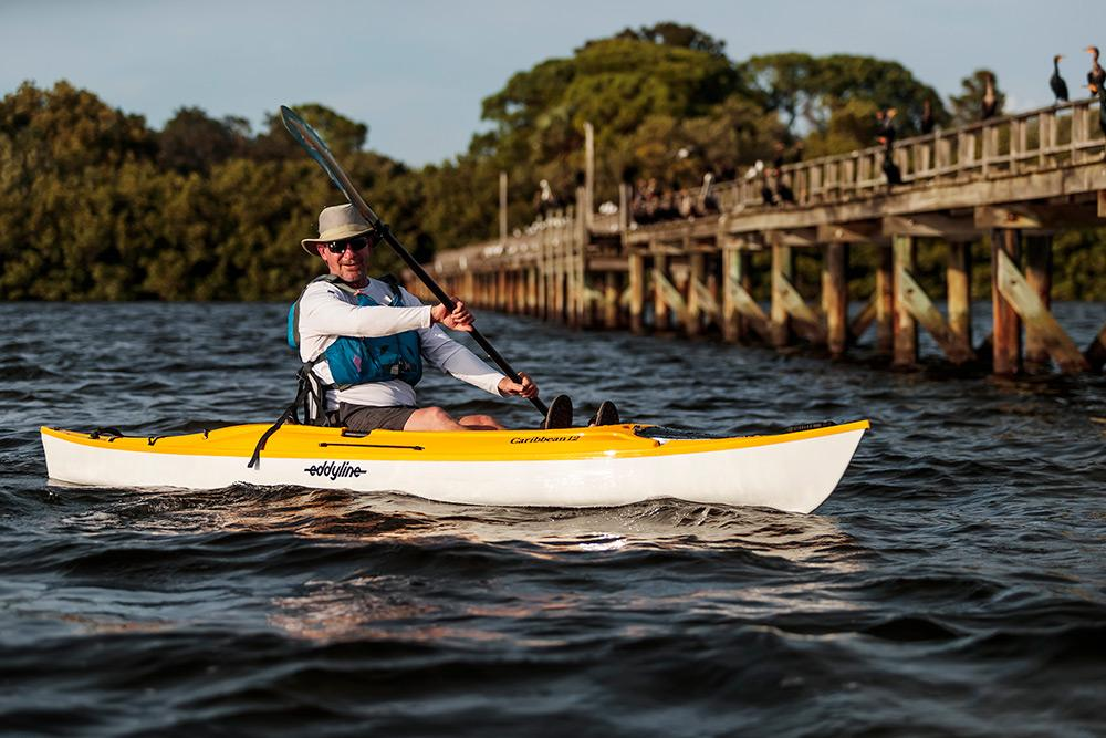 Eddyline Caribbean 12 Angler - Yellow On The Water