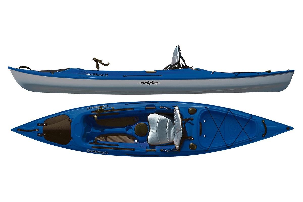 Eddyline Caribbean 12 Angler Kayak - Sapphire Blue / Silver