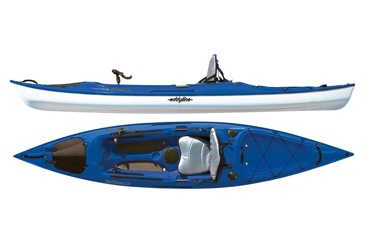 Eddyline Caribbean 12 Angler Kayak - Sapphire Blue / White