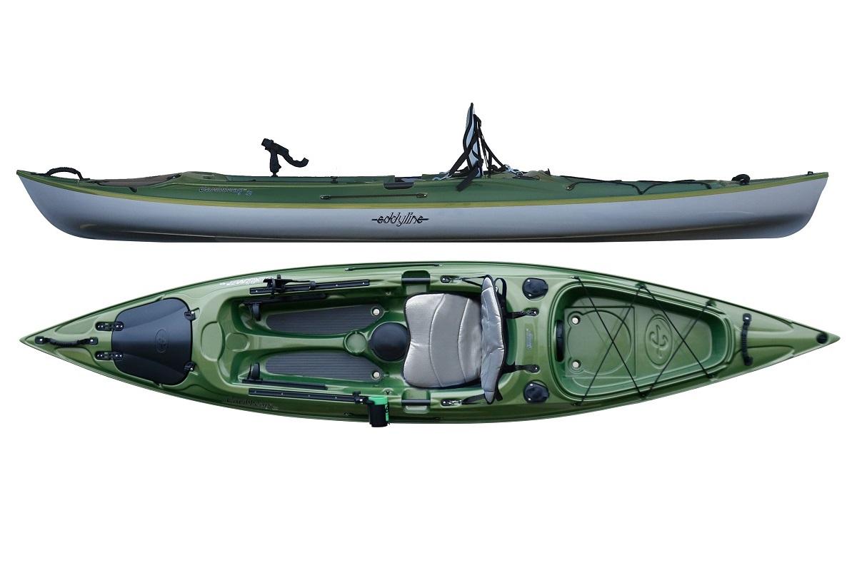 Eddyline Caribbean 12 Angler Kayak - Seagrass / Silver