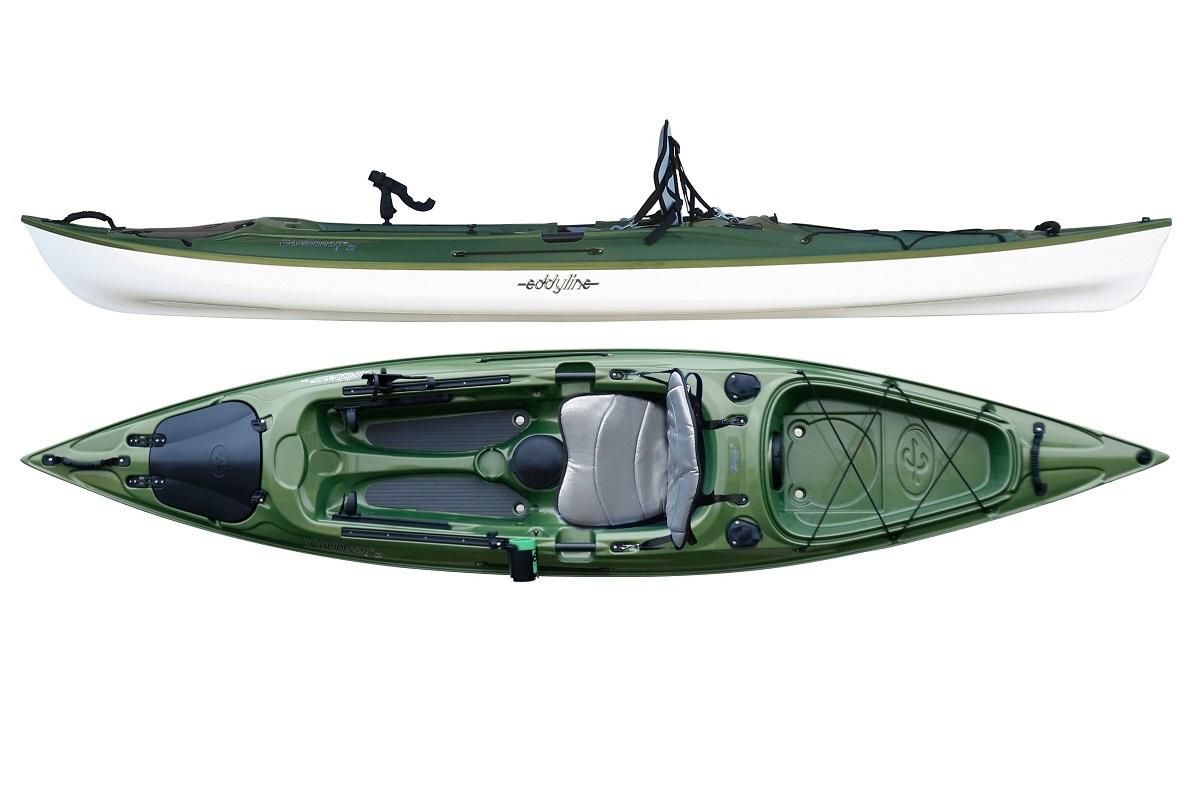 Eddyline Caribbean 12 Angler  Kayak - Seagrass / White