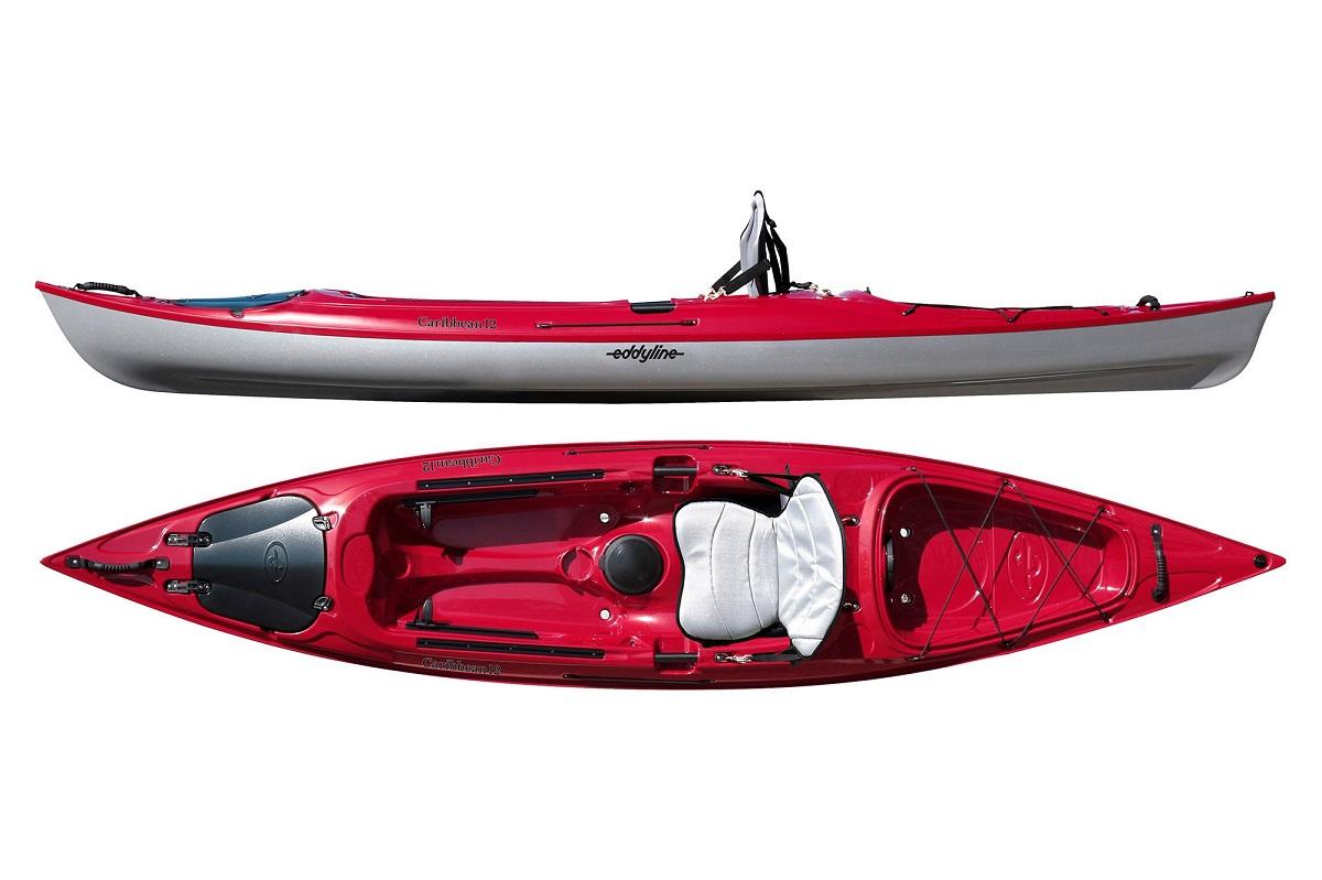 Eddyline Caribbean 12 Kayak - Red Pearl / Silver