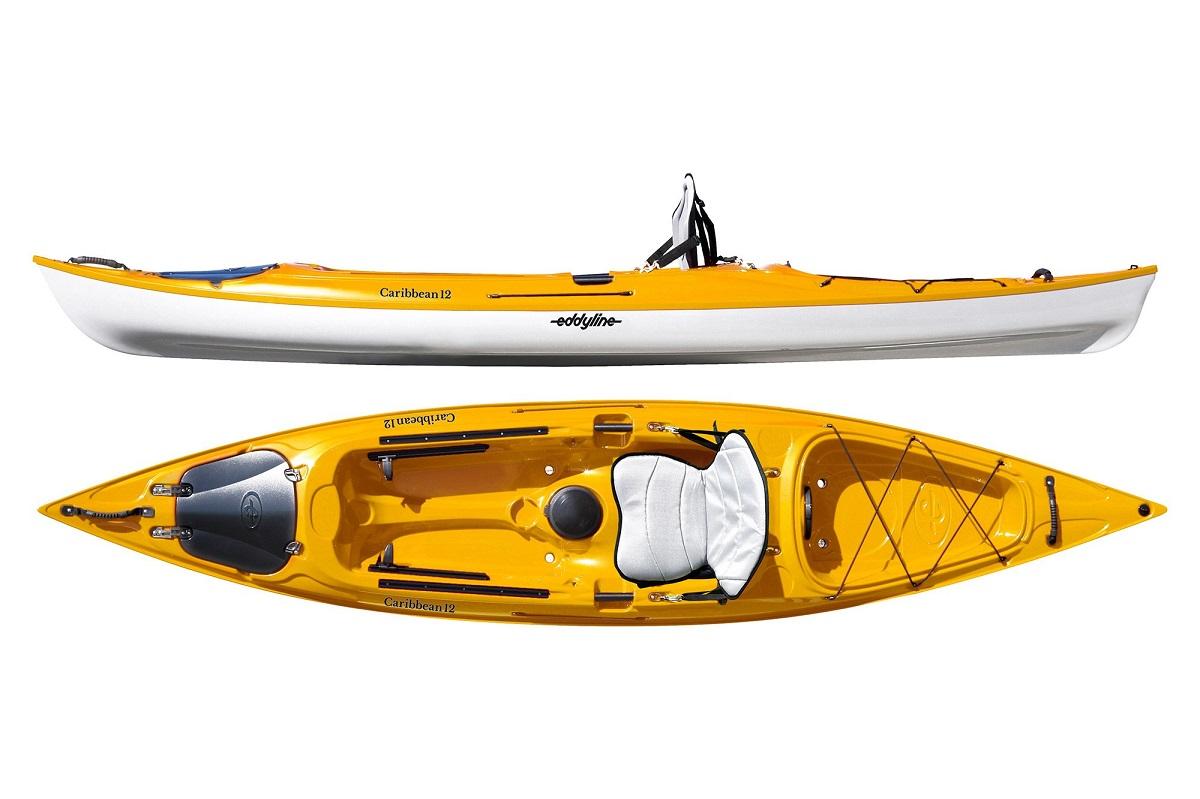Eddyline Caribbean 12 Kayak - Yellow / White