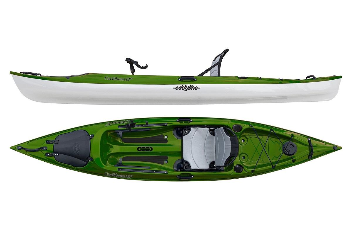 Eddyline Caribbean 12 FS Angler Fishing Kayak - Seagrass / White