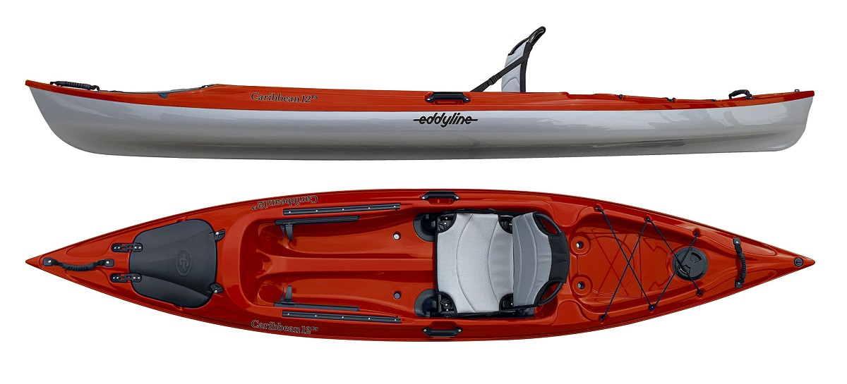 Eddyline Caribbean 12FS Kayak - Red Pearl / Silver