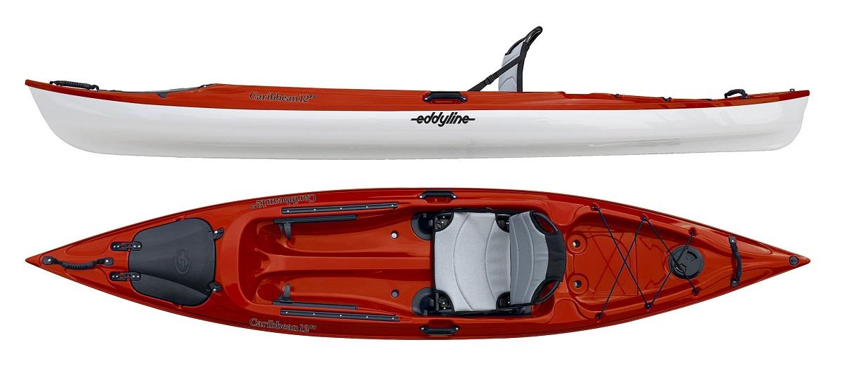Eddyline Caribbean 12FS Kayak - Red Pearl / White