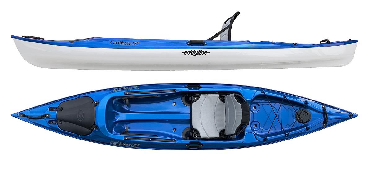 Eddyline Caribbean 12FS Kayak - Sapphire Blue / White