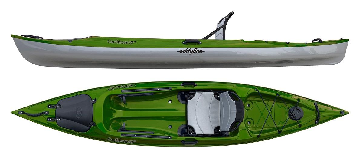 Eddyline Caribbean 12FS Kayak - Seagrass / Silver