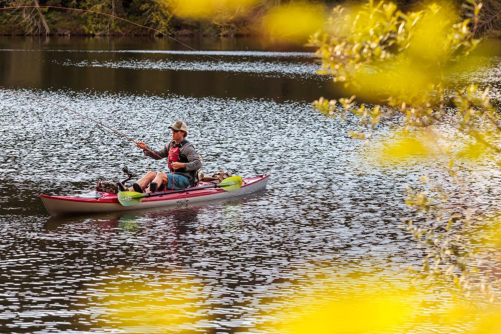 Eddyline Caribbean 14 Angler Kayak - On The Water 2