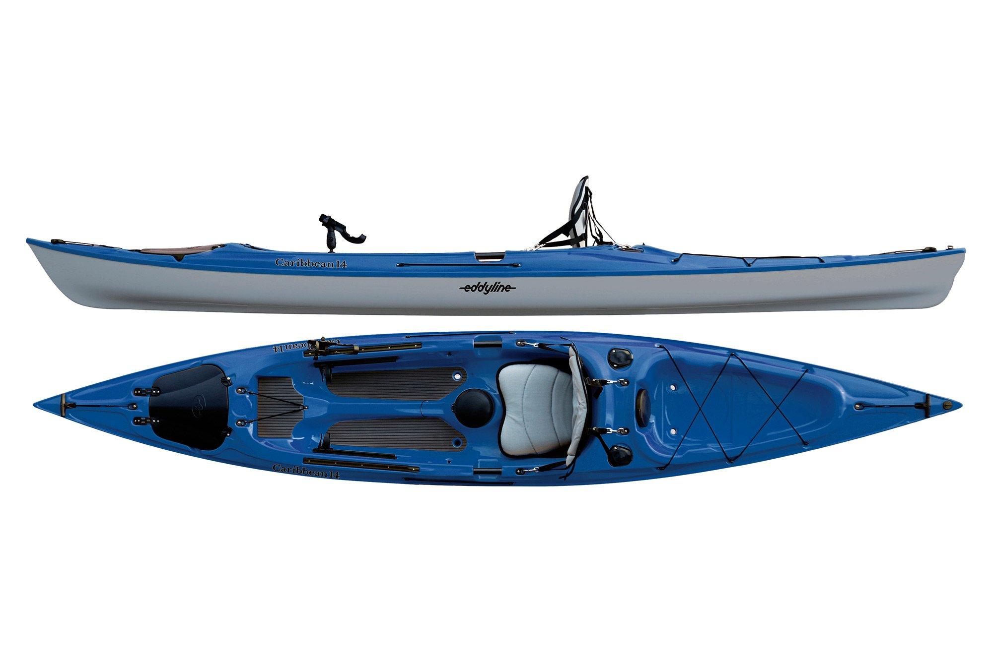 Eddyline Caribbean 14 Angler Kayak - Sapphire Blue / Silver
