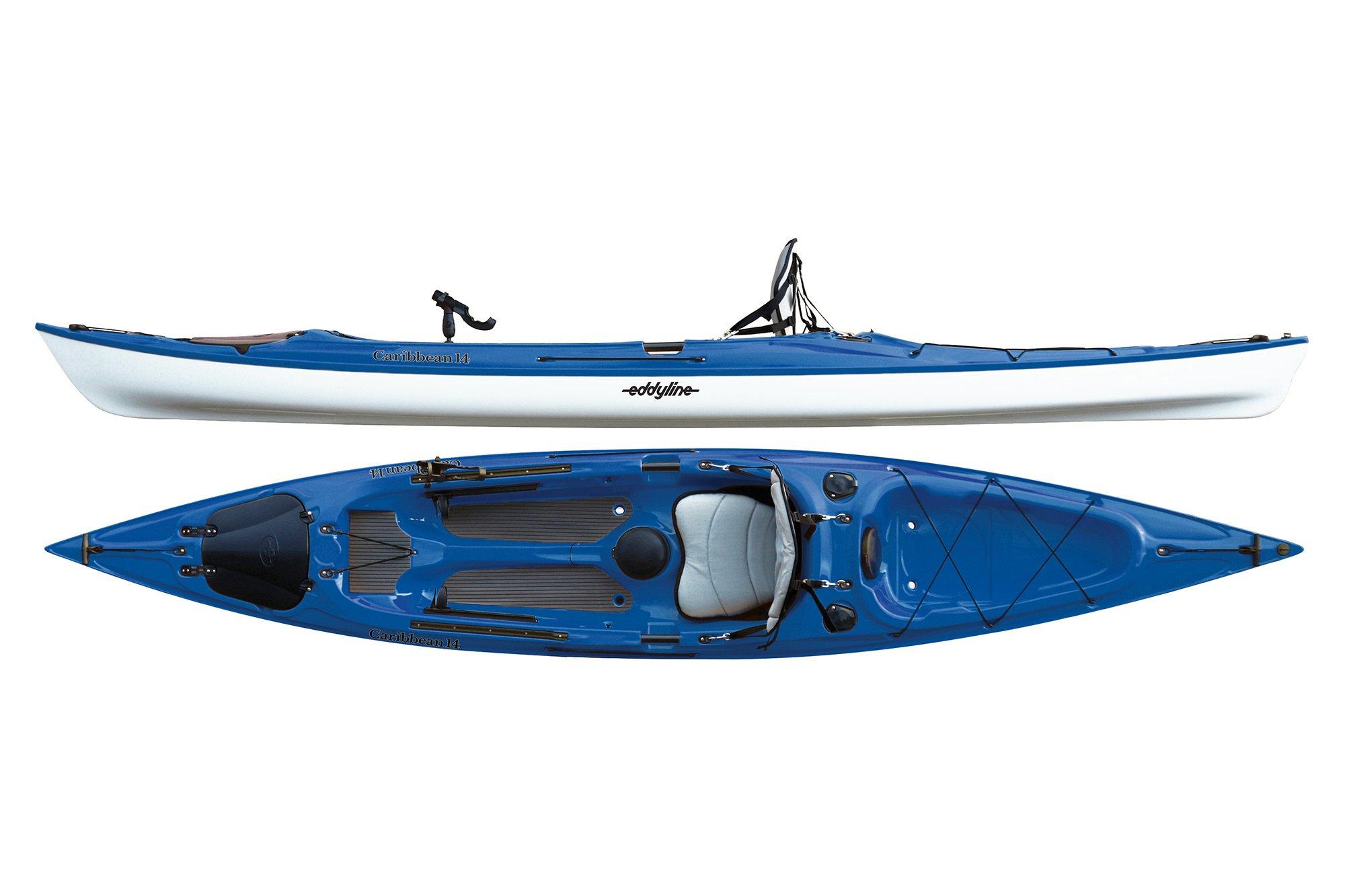 Eddyline Caribbean 14 Angler Kayak - Sapphire Blue / White