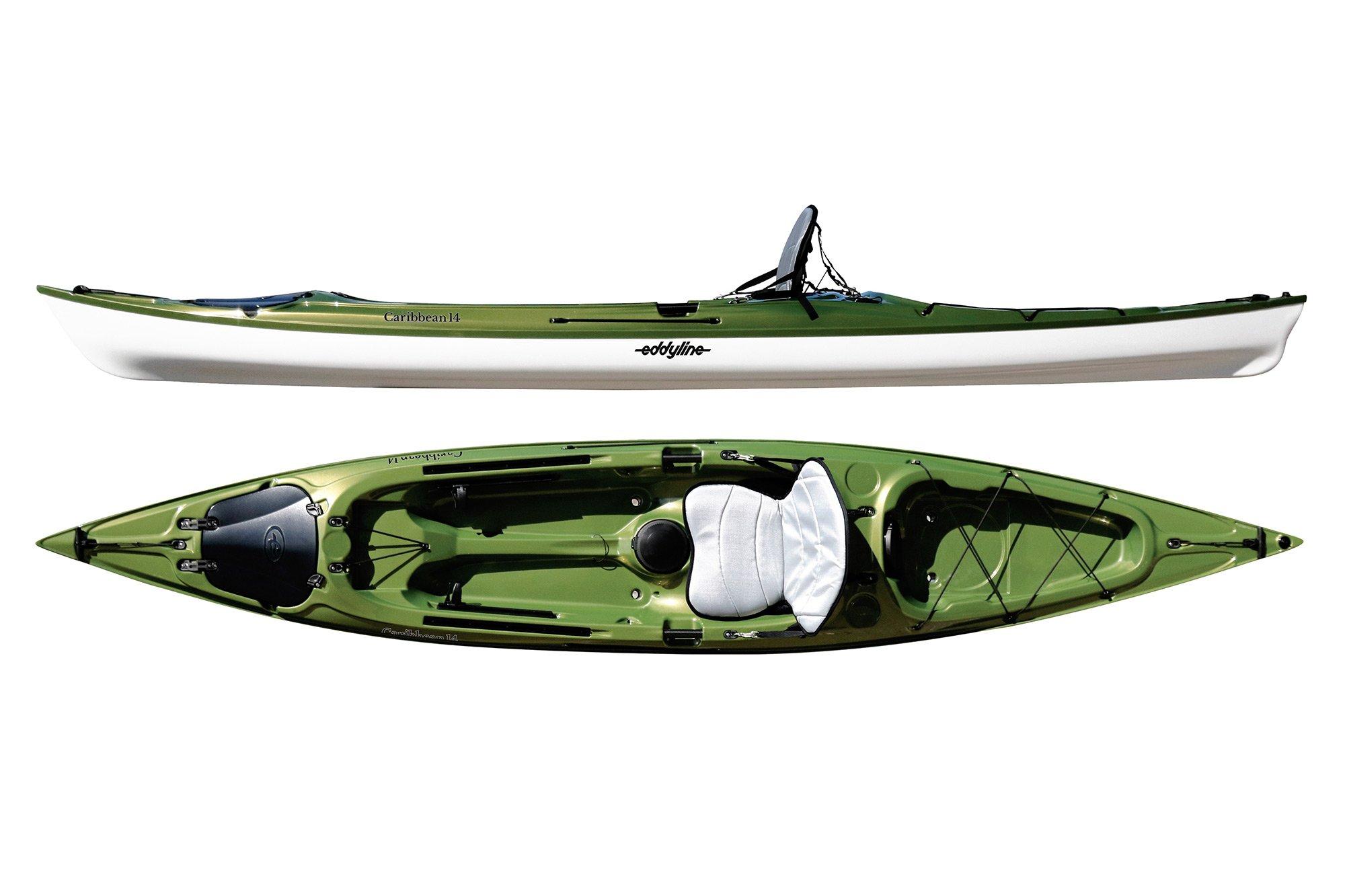 Eddyline Caribbean 14 Sit-On-Top Kayak - Seagrass / White