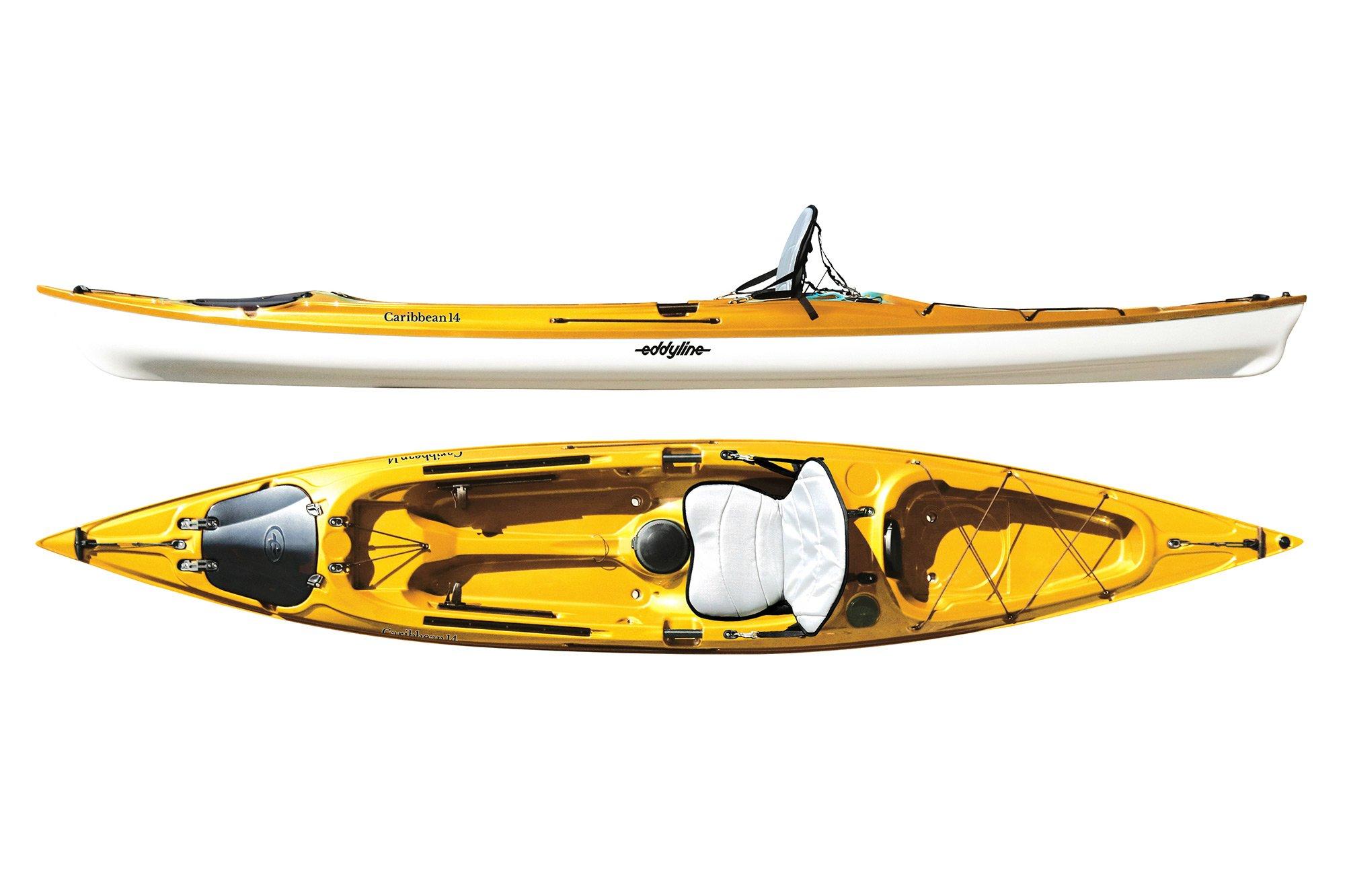 Eddyline Caribbean 14 Sit-On-Top Kayak - Yellow / White