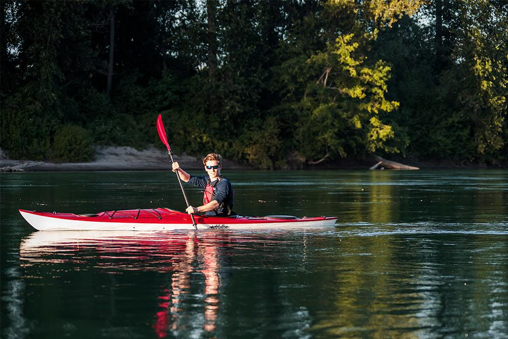 Eddyline Equinox Kayak - Red Pearl On The Water