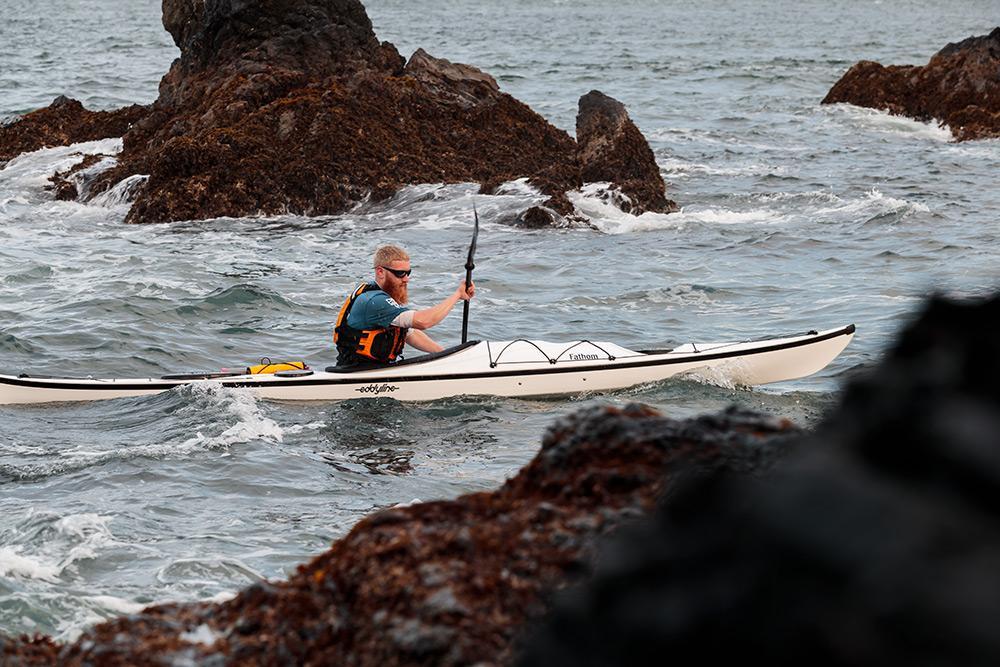 Eddyline Fathom Kayak - Bow On The Water
