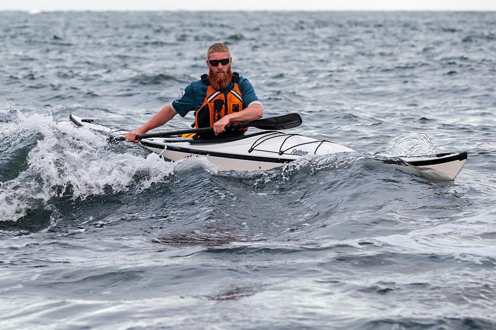 Eddyline Fathom Kayak - On The Water With Waves