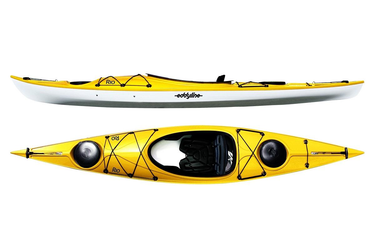 Eddyline Rio Kayak - Yellow / White