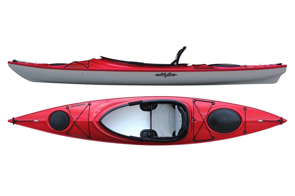 Eddyline Sandpiper 130 Kayak - Red Pearl / Silver