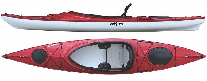 Eddyline Sandpiper 130 Kayak - Red