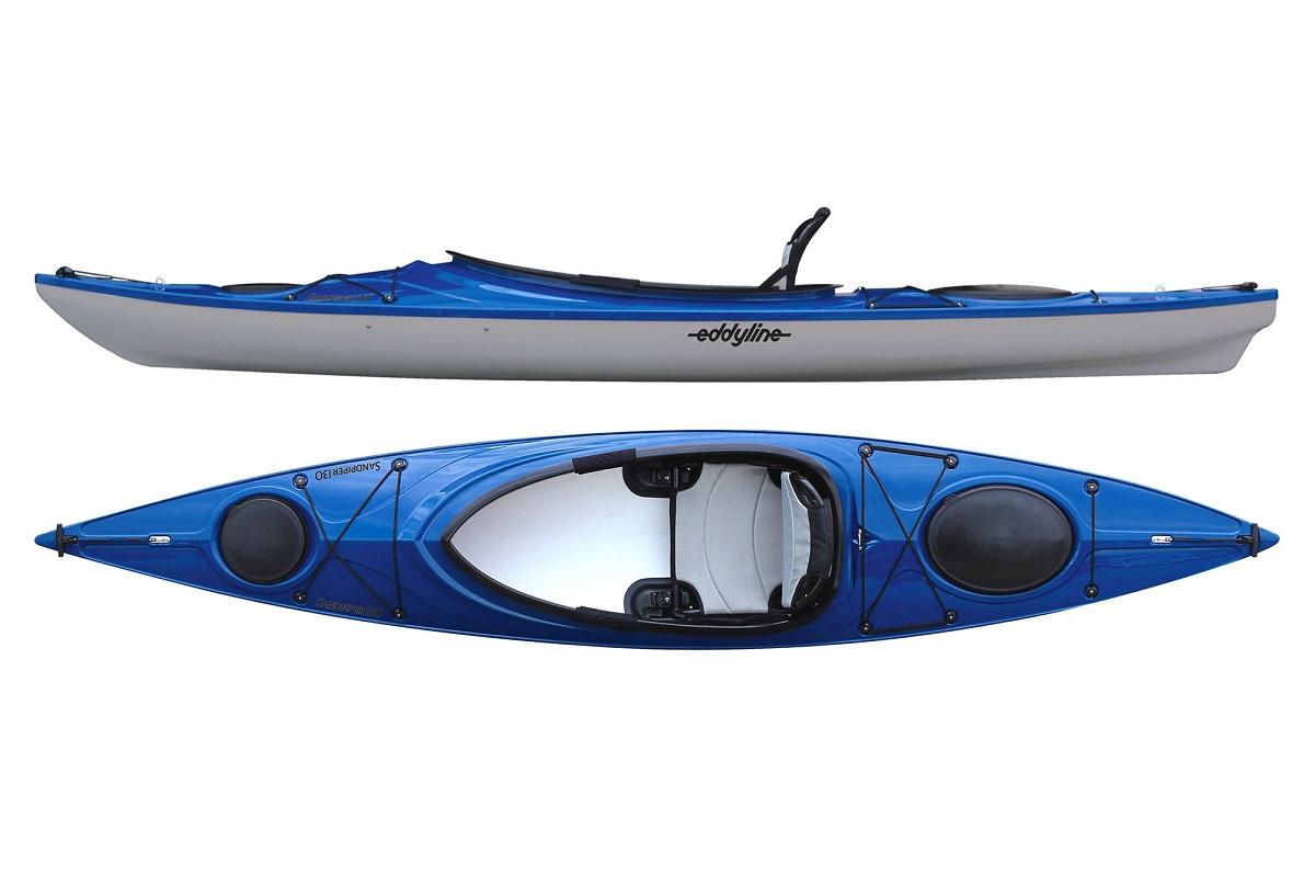 Eddyline Sandpiper 130 Kayak - Sapphire Blue / Silver