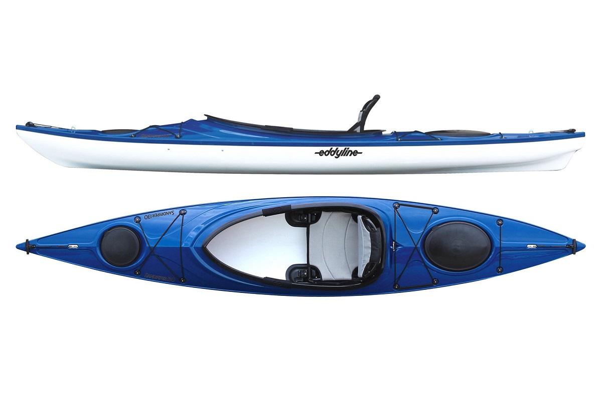 Eddyline Sandpiper 130 Kayak - Sapphire Blue / White
