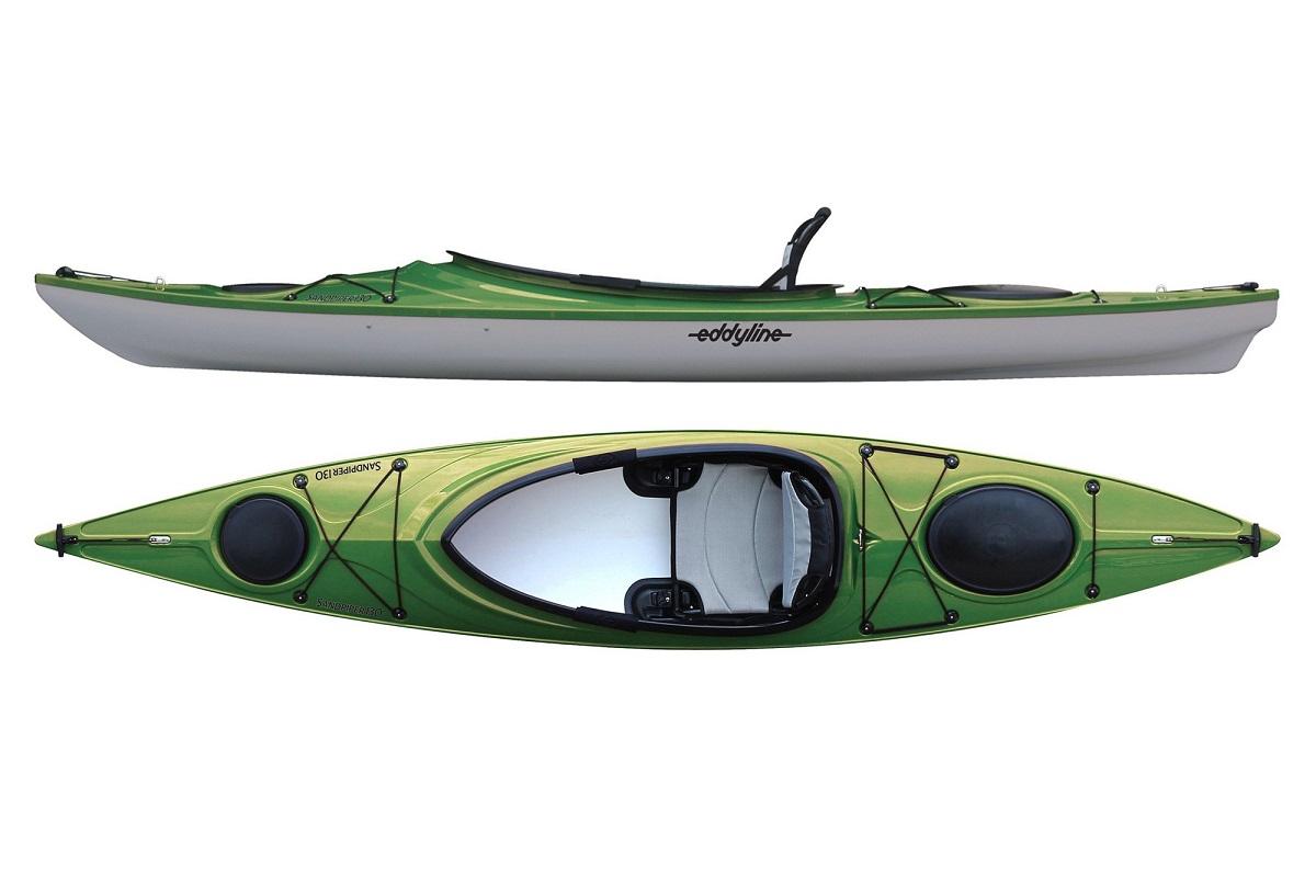 Eddyline Sandpiper 130 Kayak - Seagrass / Silver
