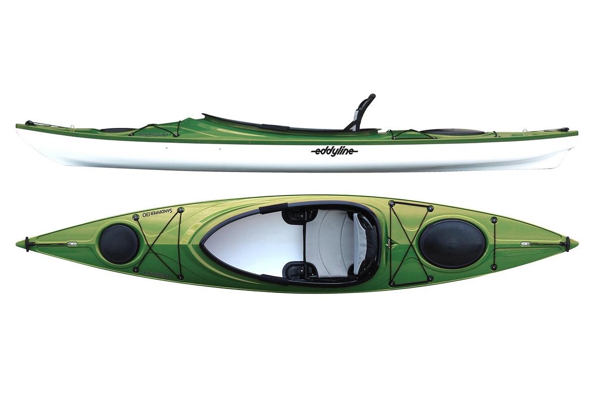 Eddyline Sandpiper 130 Kayak - Seagrass / White