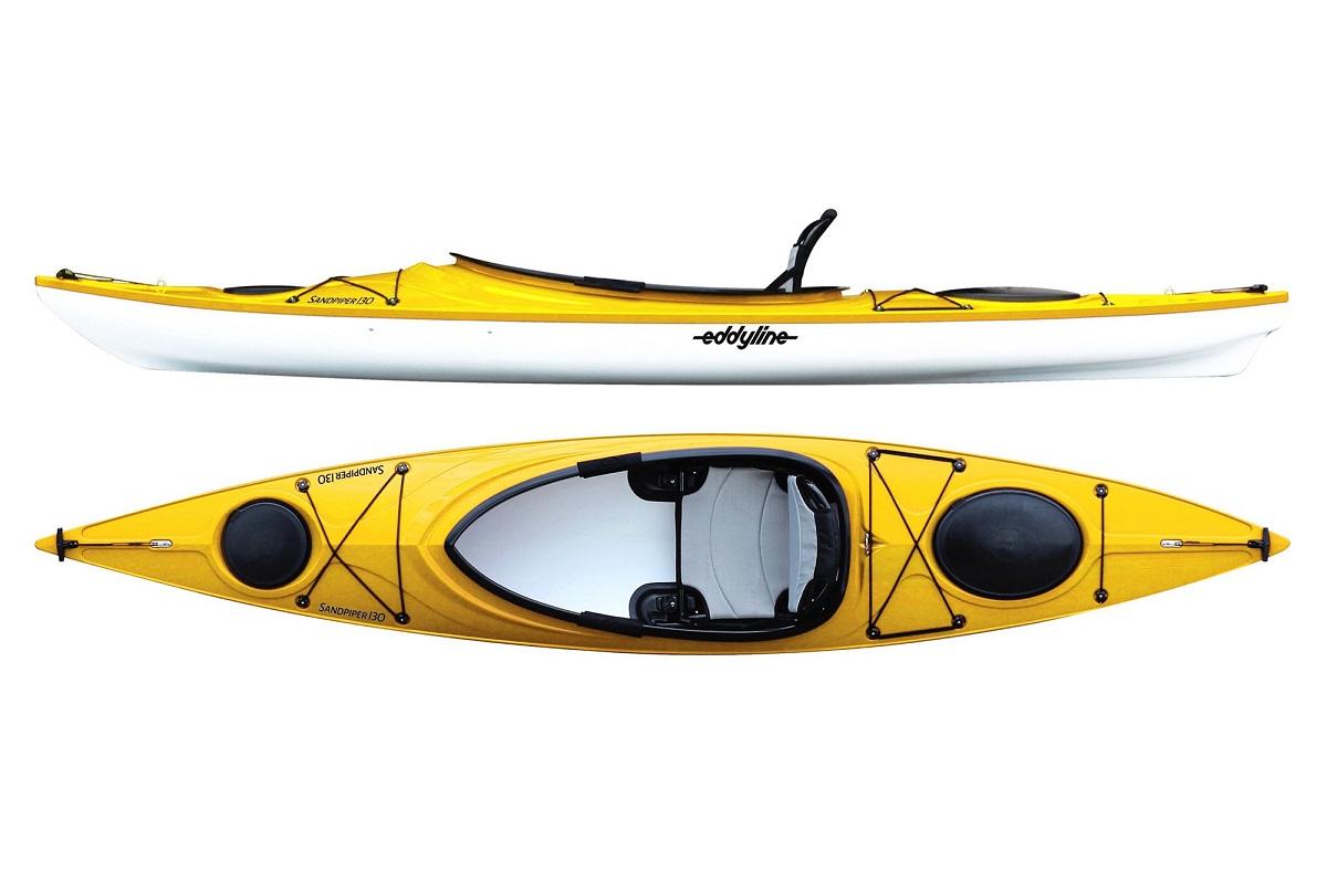 Eddyline Sandpiper 130 Kayak - Yellow / White