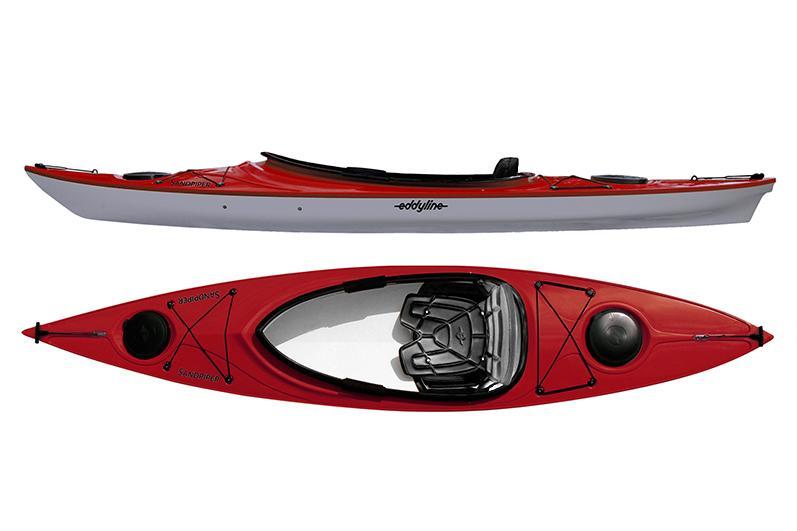 Eddyline Sandpiper Kayak - Red Pearl / Silver
