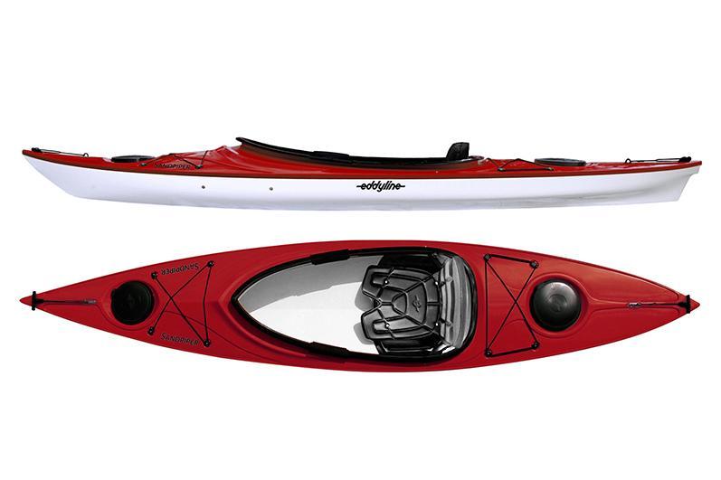 Eddyline Sandpiper Kayak - Red Pearl / White