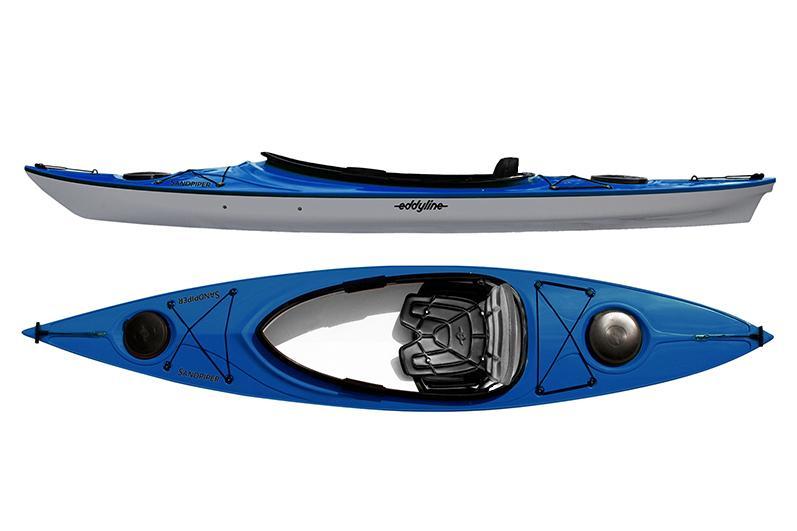 Eddyline Sandpiper Kayak - Sapphire Blue / Silver