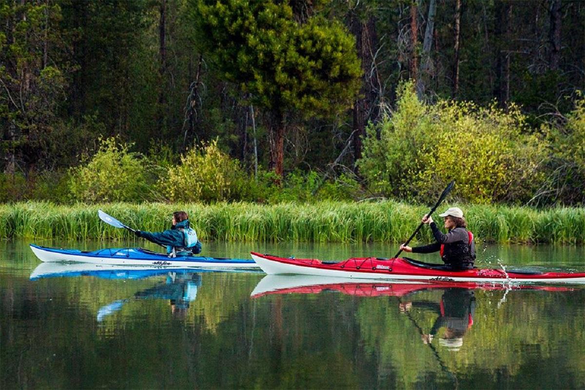 Eddyline Sitka LT Kayak - On The Water 5