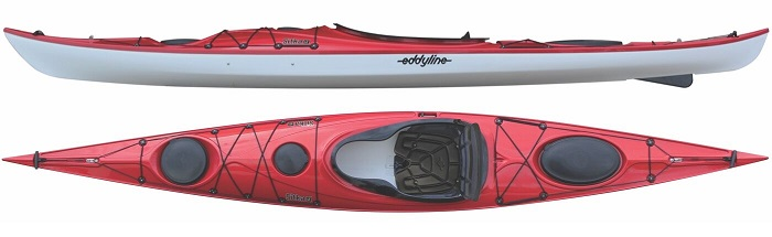 Eddyline Sitka LT Touring Kayak - Red