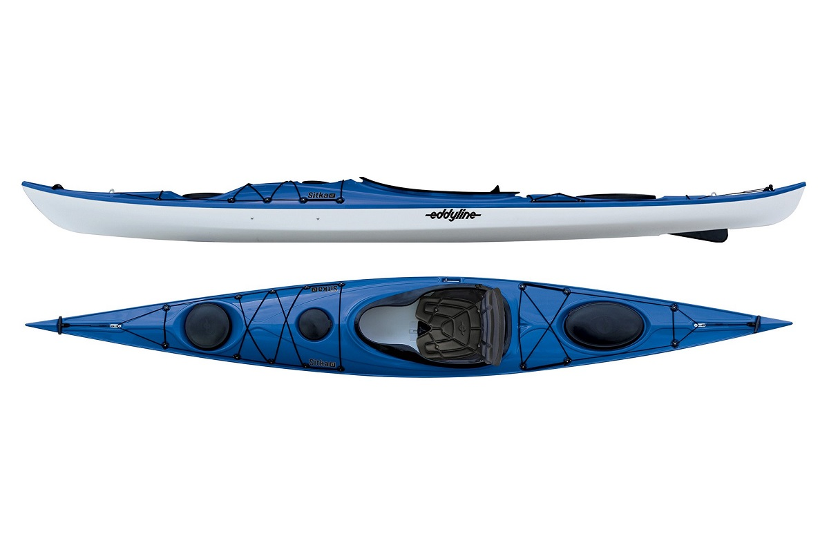 Eddyline Sitka LT Kayak - Sapphire Blue / White