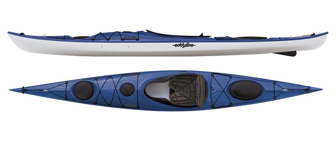 Eddyline Sitka LT Touring Kayak - Sapphire Blue