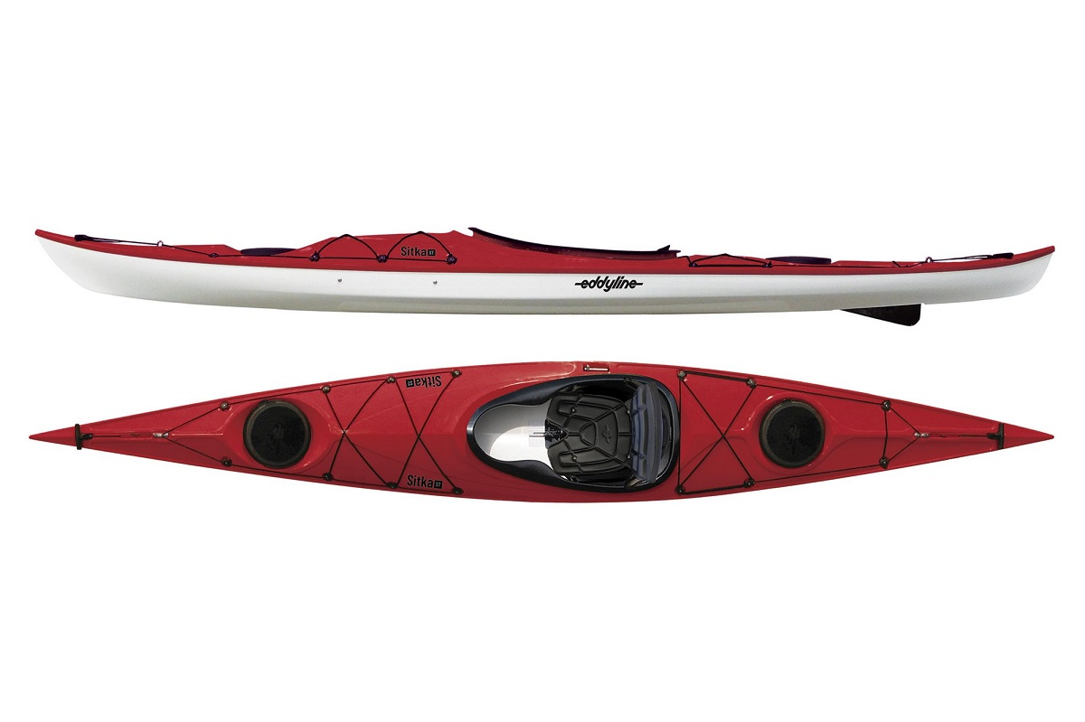 Eddyline Sitka ST Kayak - Red Pearl / White