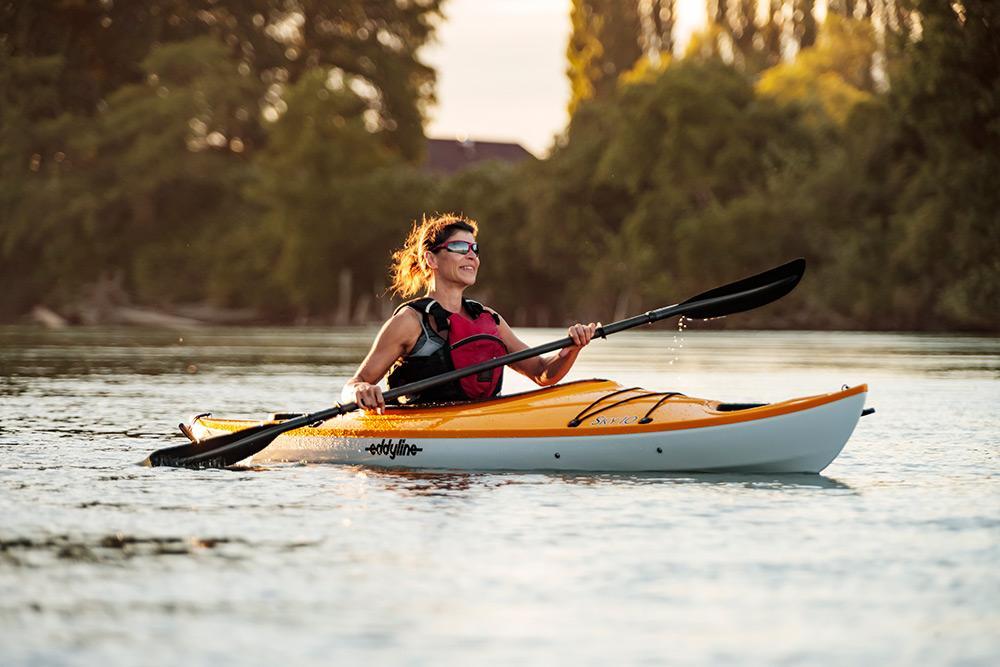 Eddyline Sky 10 Kayak - On The Water 1