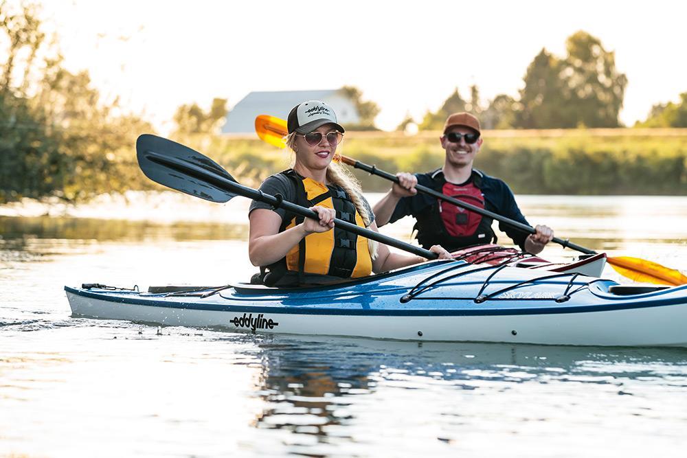 Eddyline Skylark Kayak - On the Water 2
