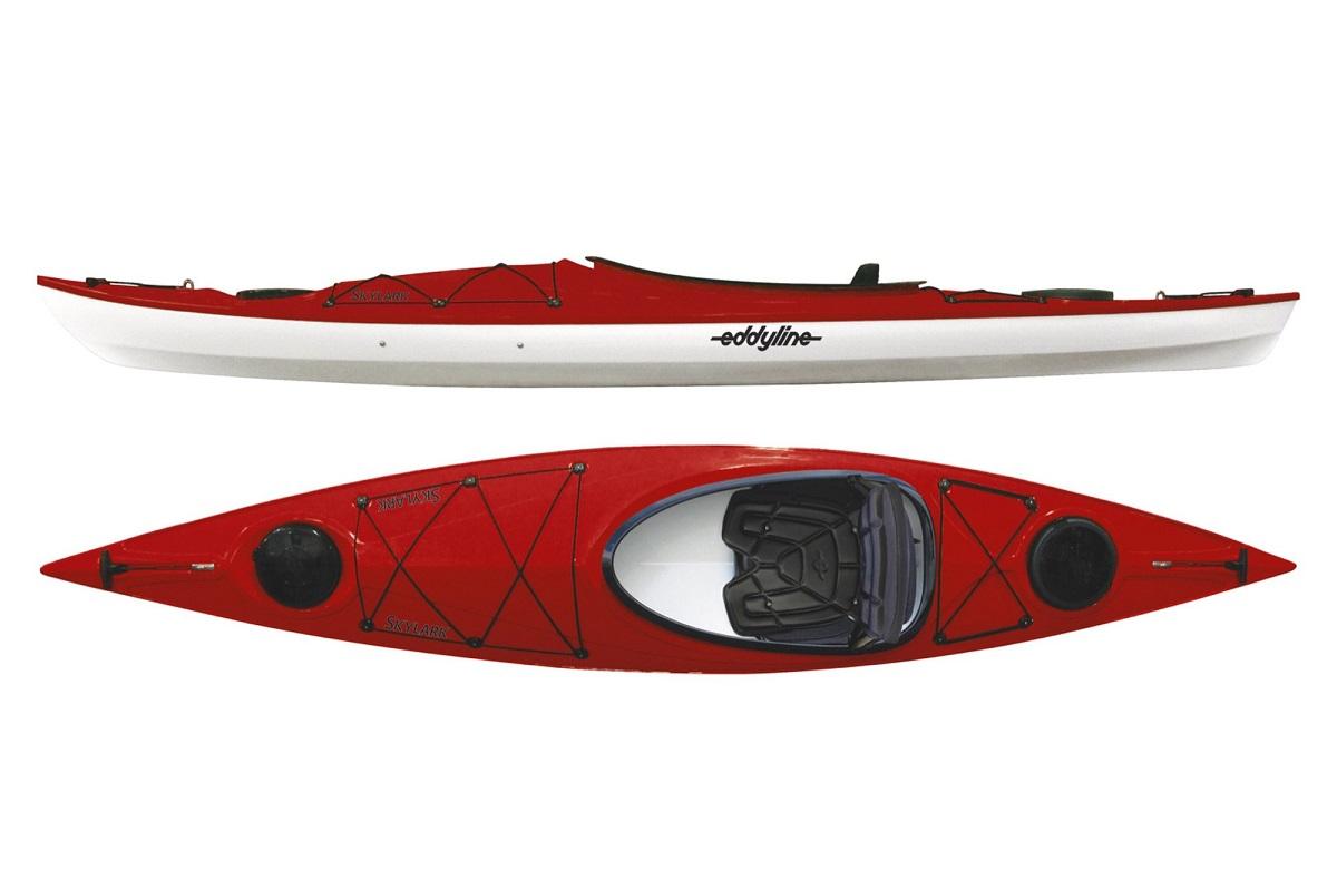Eddyline Skylark Kayak - Red Pearl / White